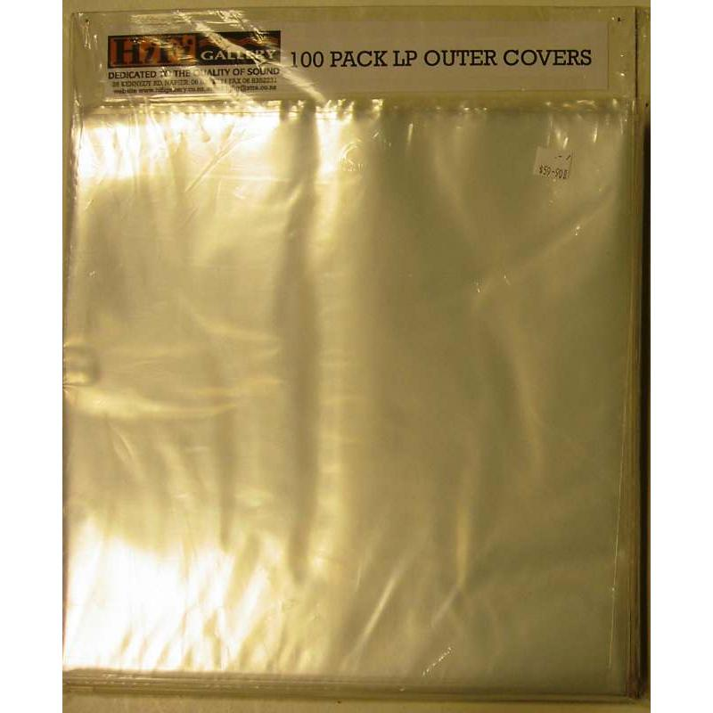 LP Record Open Top Outer Sleeves - 100 Pack