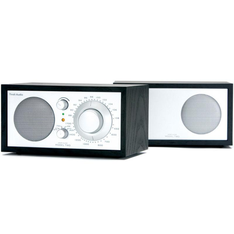 Tivoli Audio Model Two AM/FM Table Radio: Black/Silver