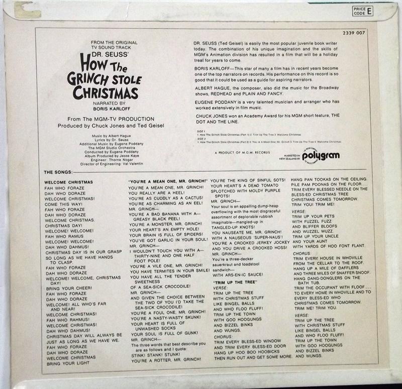 How The Grinch Stole Christmas Lyrics.How The Grinch Stole Christmas Original Tv Soundtrack