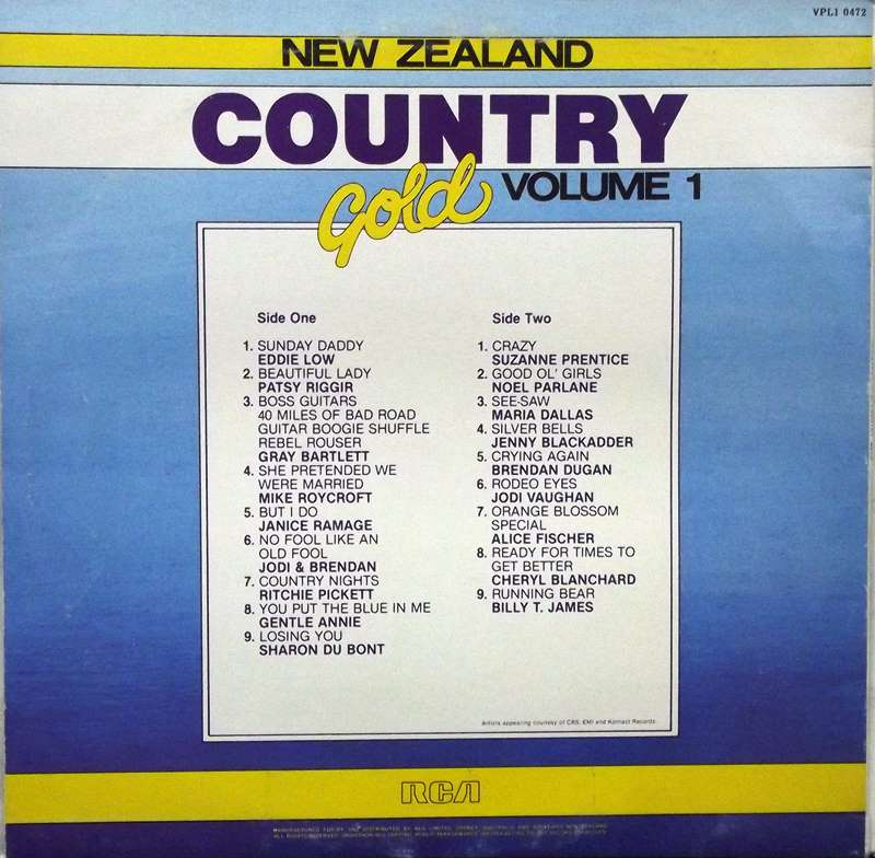 New Zealand Country Gold - Volume 1 | Just for the Record